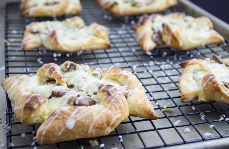 Candied Pecan Cheese Danish