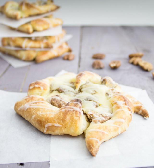 Candied Pecan Cheese Danish