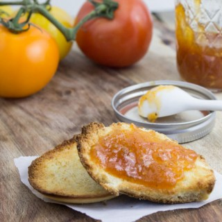 Sweet Tomato Jam on Toast