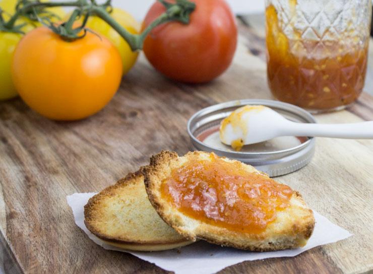 Sweet Tomato Jam on Toast