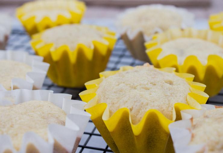 Vanilla Bean Banana Cupcakes