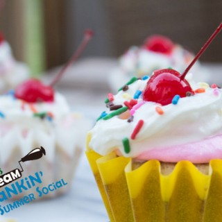 Banana Split Cupcakes + Crankin' Ice Cream Social