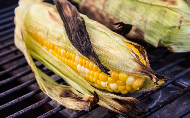 Grilling Corn with Herb Butter