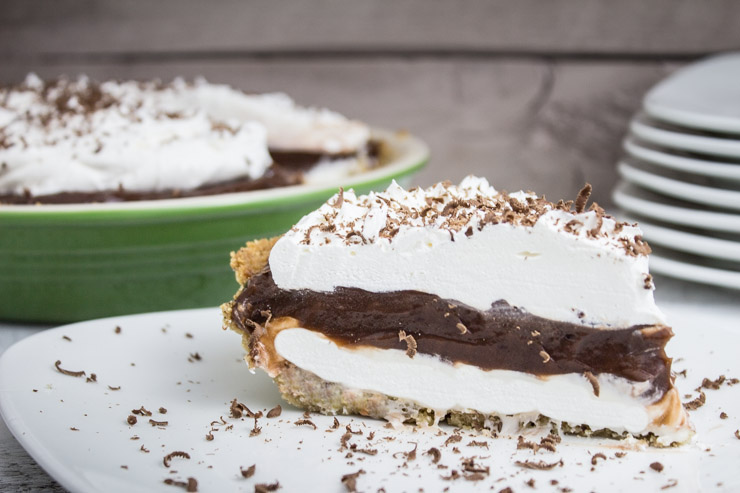Whipped Chocolate Cream Pie | Southern FATTY