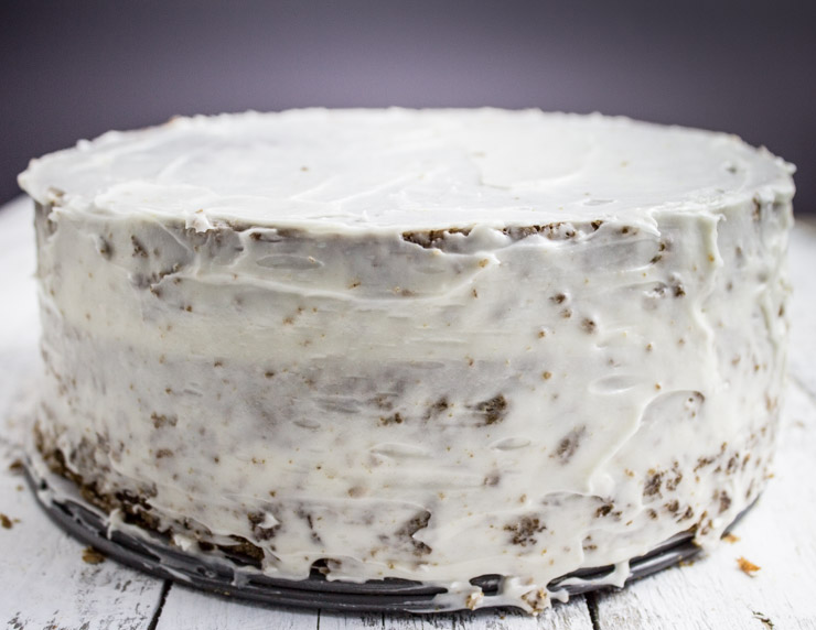 Crumb Coated Carrot Cake