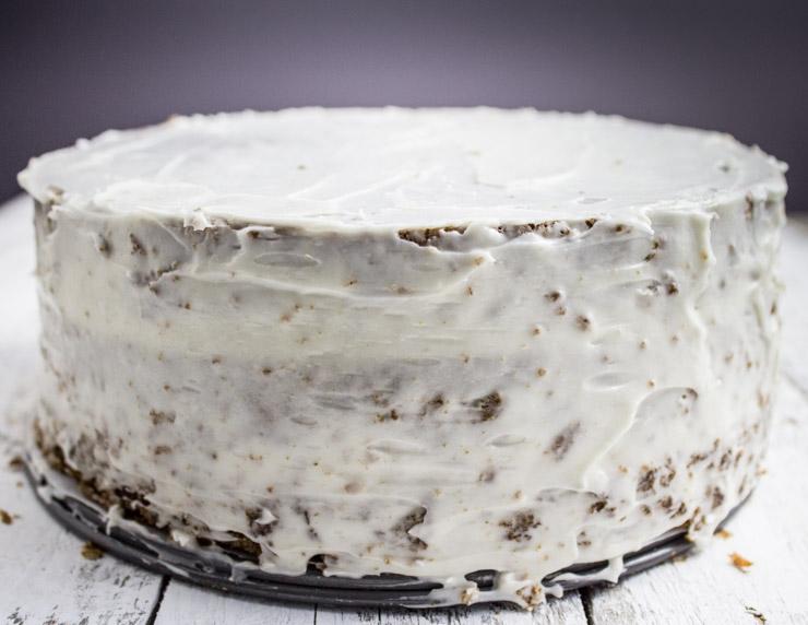 Crumb Coated Carrot Cake
