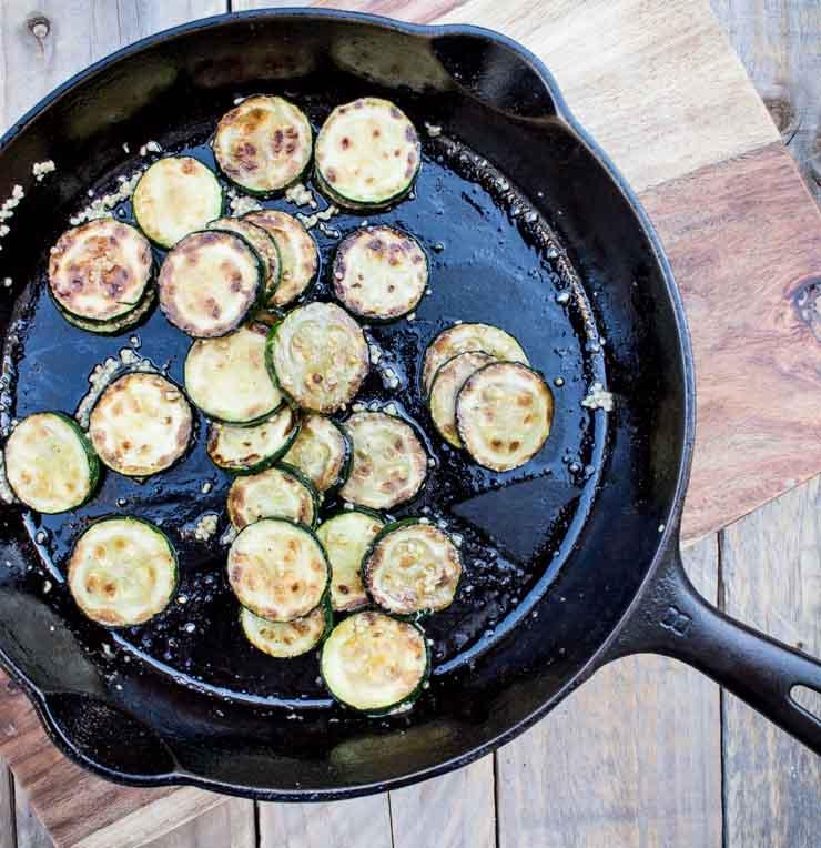 Garlic Sautéed Zucchini