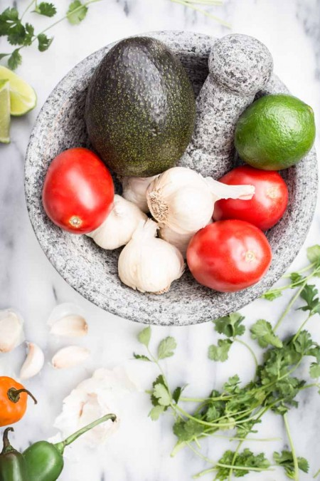Fresh Ingredients for Guacamole