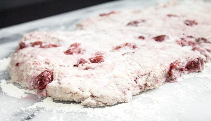 Strawberry Cinnamon Chip Scone Dough