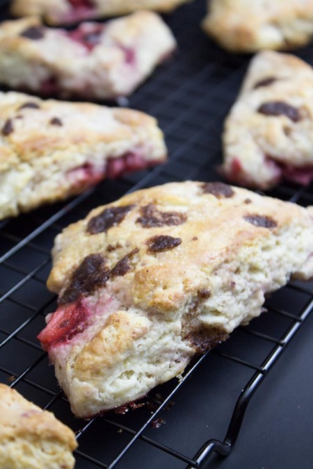 Strawberry Cinnamon Chip Scones
