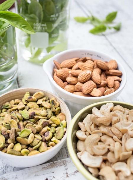 Cashews, Almonds and Pistachios