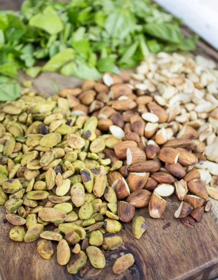 Toasted Nuts for Pesto with Basil
