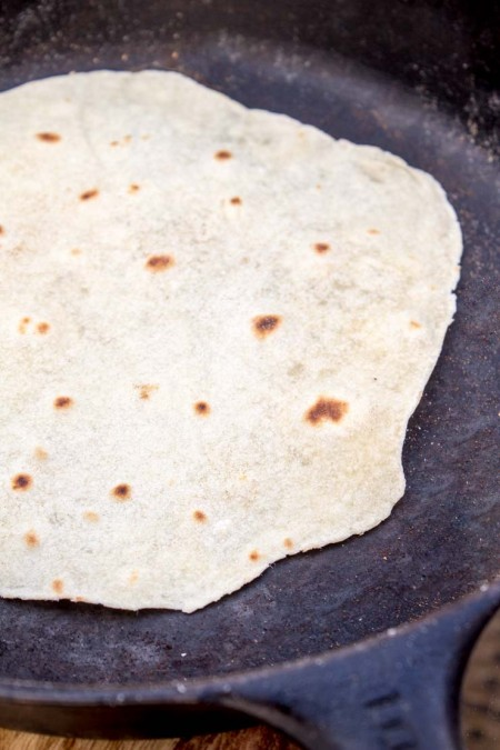 Quickly Cook Tortillas in Skillet