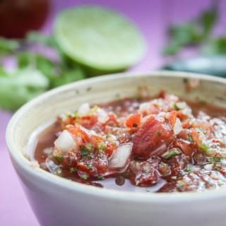 Homemade Homegrown Tomato Salsa