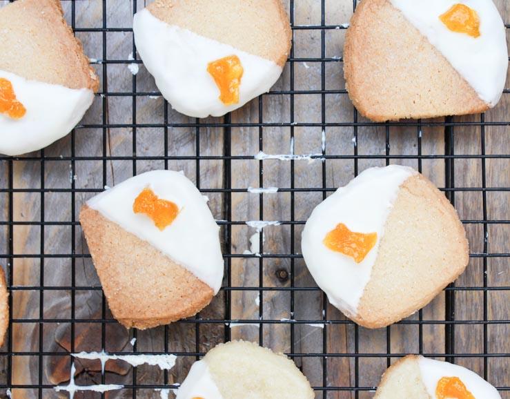 Dipped Shortbread Cookies