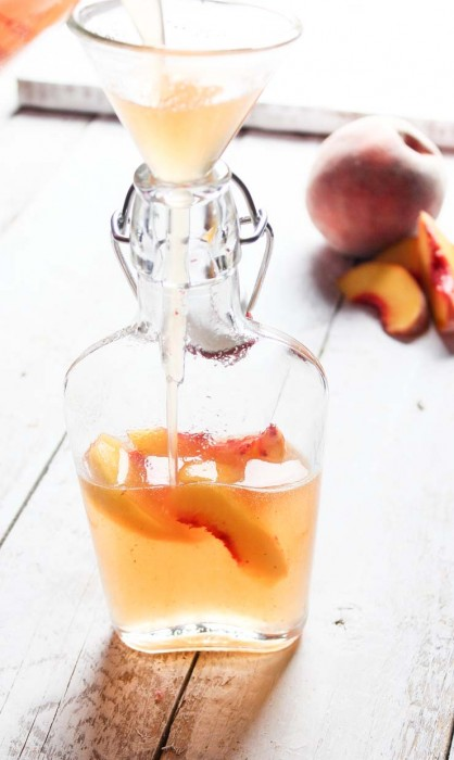 Filling Peach Simple syrup