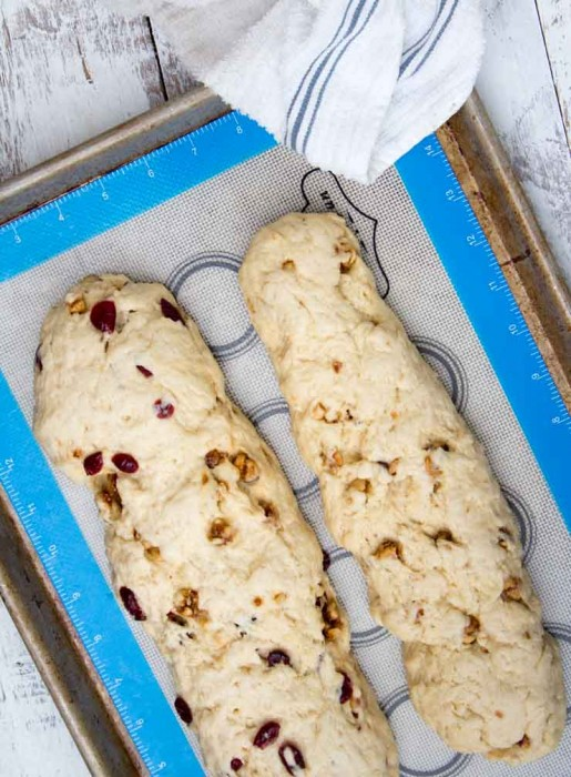 Biscotti Loaves Resting