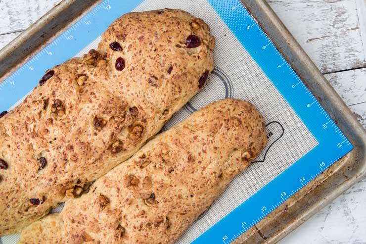 Baked Biscotti Loaves