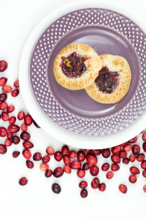 Cranberry Marzipan Shortbread Cookies