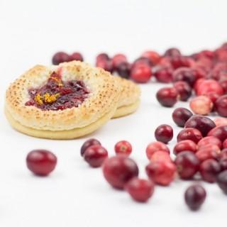 Cranberry Marzipan Shortbread Cookies