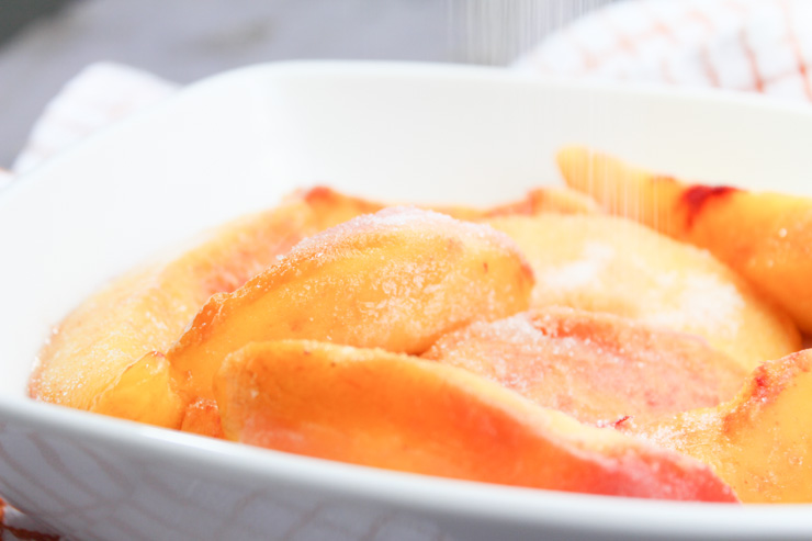 Frozen Peaches for Sorbet