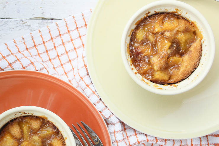 Salted Caramel Peach Cobler