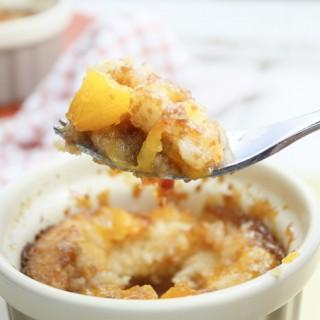 Salted Caramel Peach Cobbler