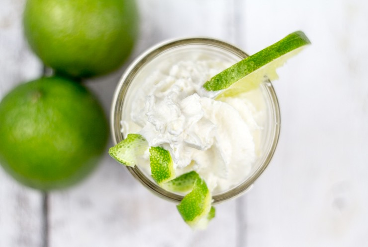 Individual Key Lime Pie in a Jar