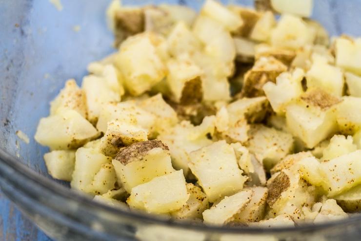 Preparing Potatoes to Bake