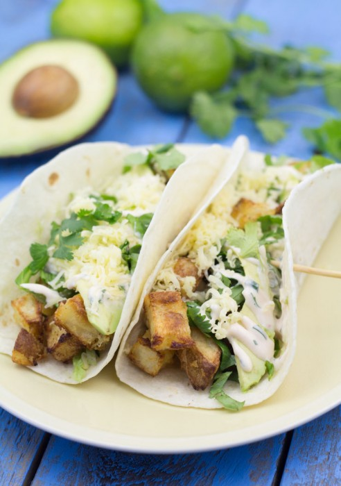 Spicy Crispy Potato Tacos