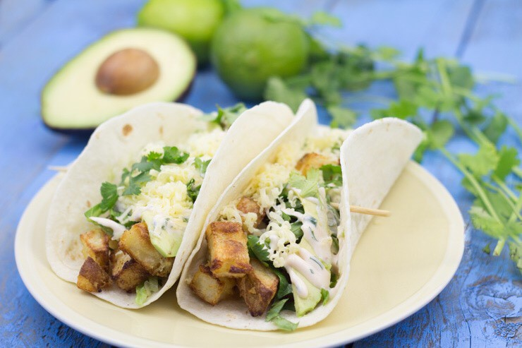 Spicy Potato Soft Tacos