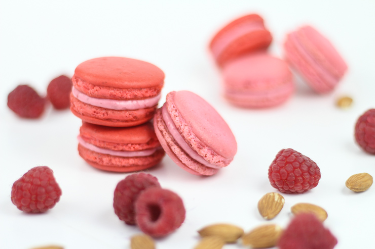 Raspberry Almond Macarons