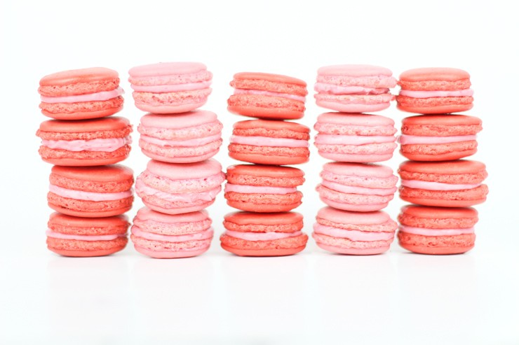Raspberry Almond Macarons
