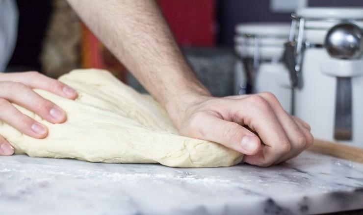 Kneading Beignet Dough