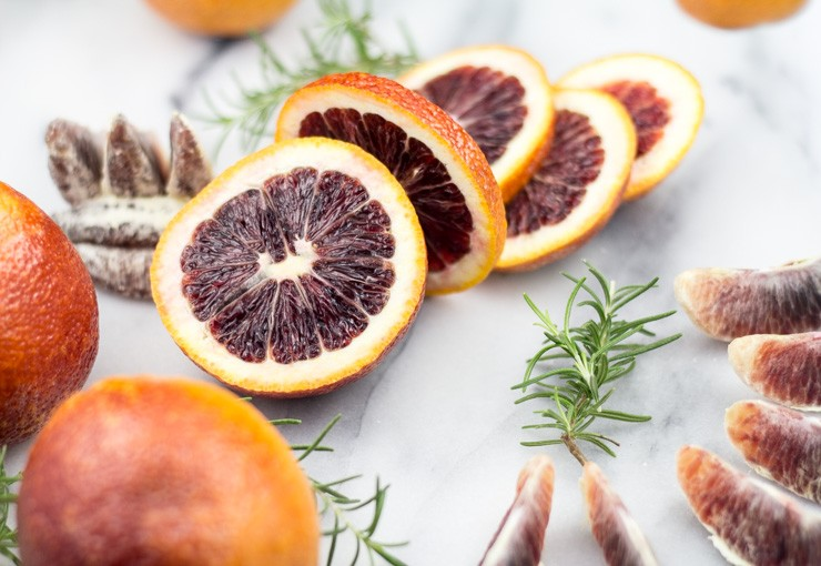 Beautiful Blood Oranges for Biscuits