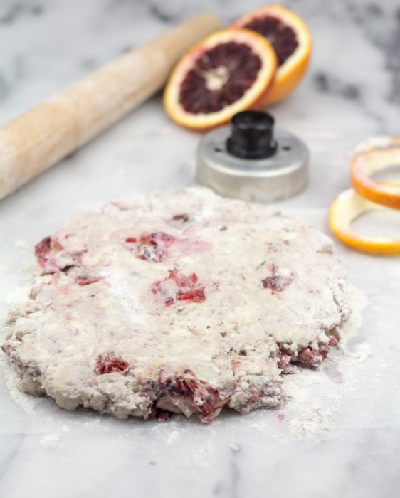 Blood Orange Biscuit Dough