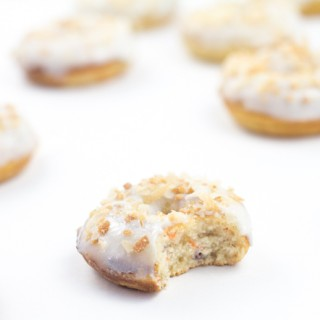 Mini Carrot Cake Doughnuts
