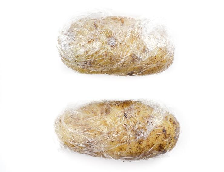 Salt Crusted Baked Potatoes
