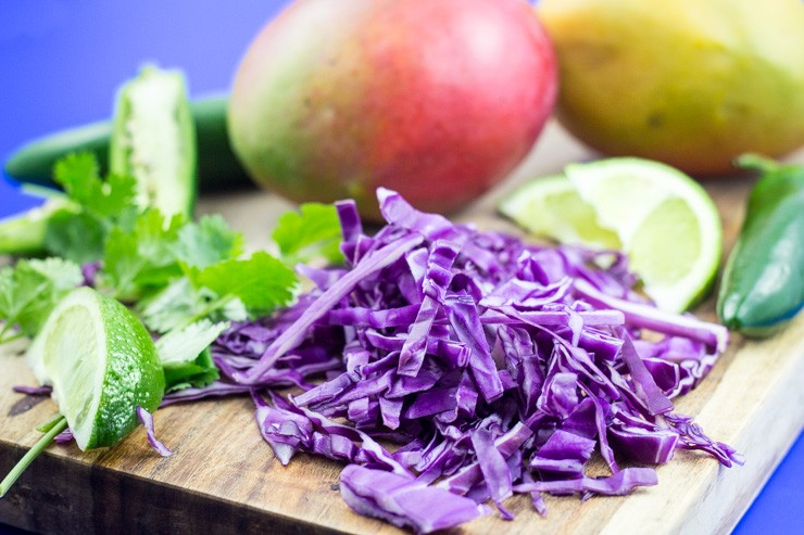 Red Cabbage for Citrus Slaw