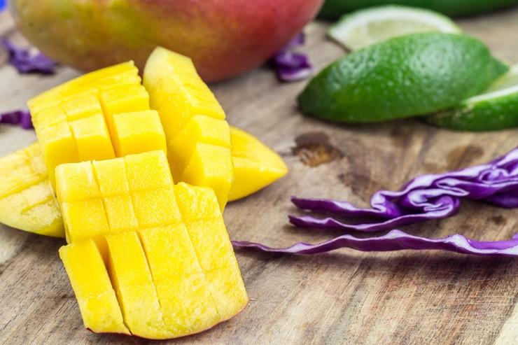 Fresh Mango for Citrus Taco Slaw