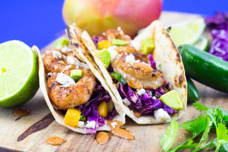 Mango Slaw Shrimp Tacos