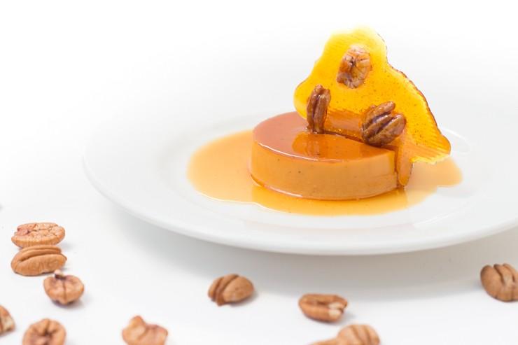 Drunken Pecan Crème Caramel
