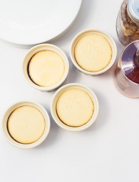 Drunken Pecan Crème Caramels