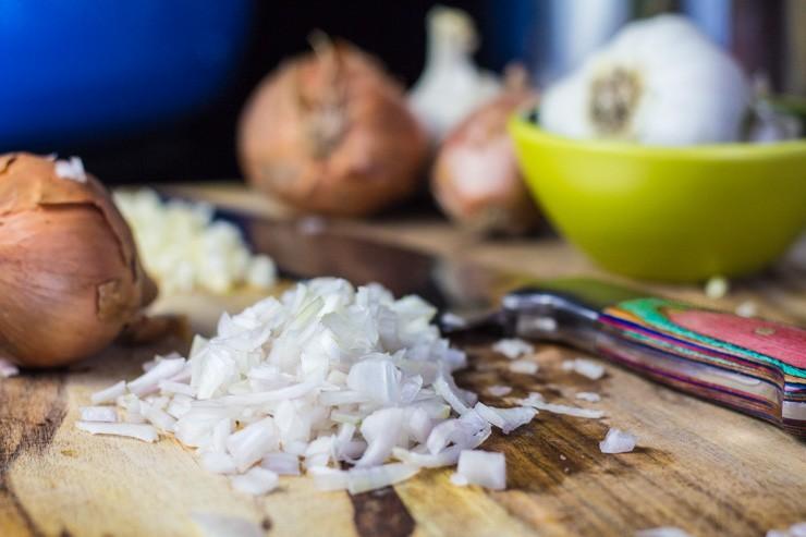 Chopping Shallots & Garlic