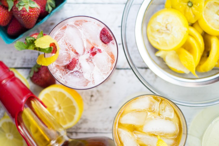 Strawberry Bourbon Lemonade