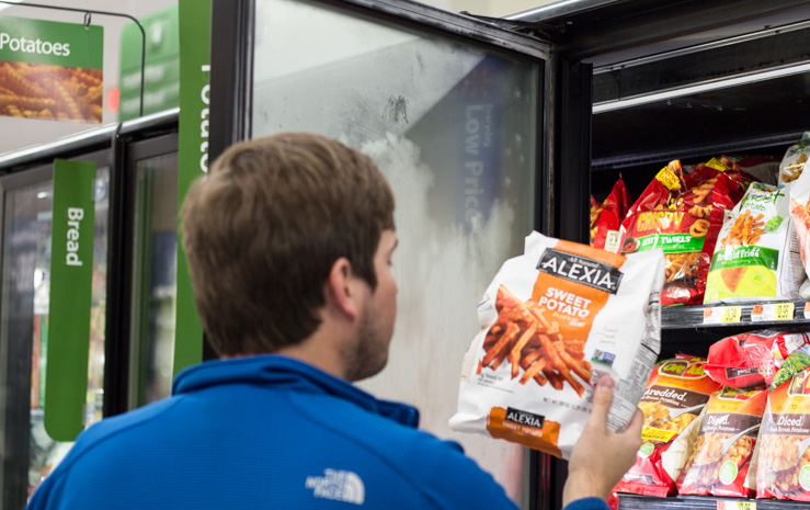 Buying Alexia Sweet Potato Fries in the Freezer Section