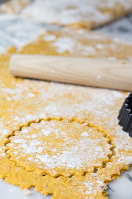 Shaping the Sweet Potato Fry Crust