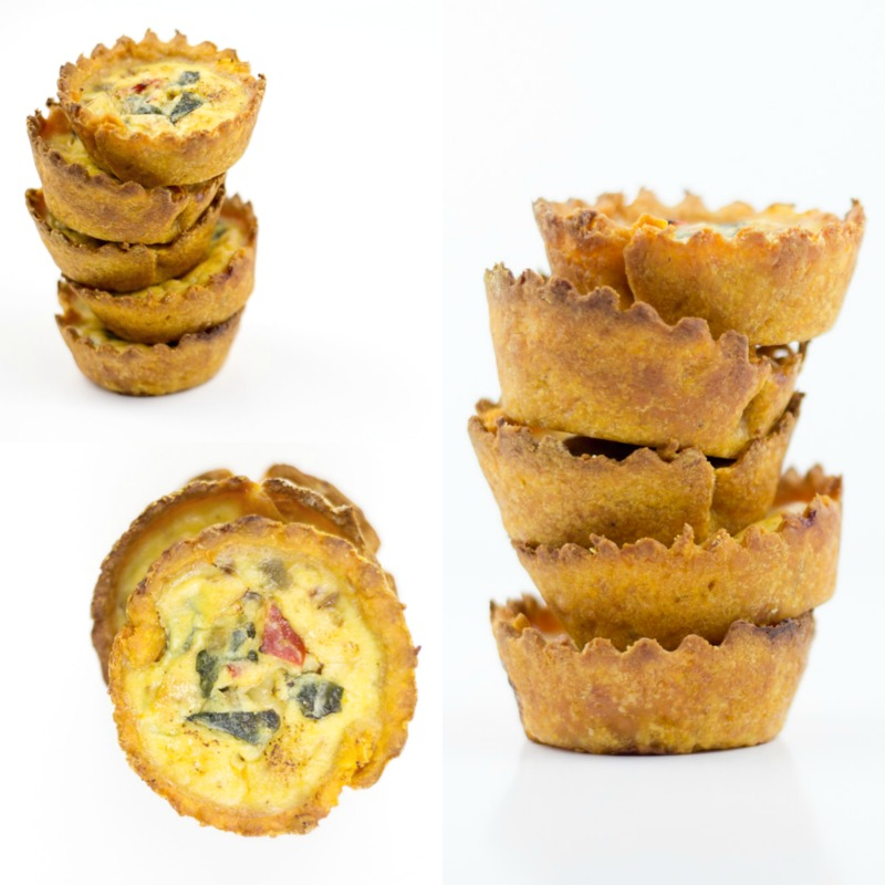 Baked Sweet Potato Fry Crusted Mini Quiche