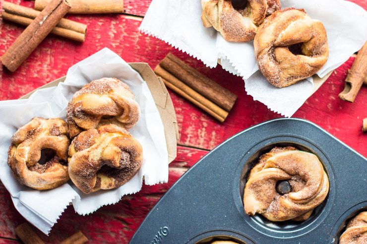 Babka Twist Doughnuts with Cinnamon Sugar