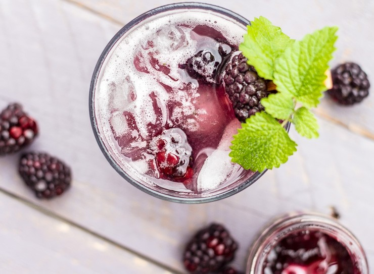 Blackberry Jammin Lemon Balm Cocktail